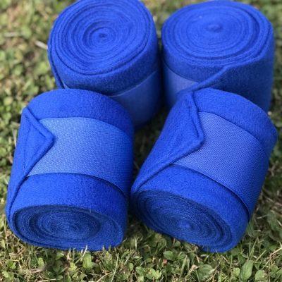 Valleyhorsewear Royal Blue Fleece Bandages-Set of 4