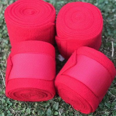 Valleyhorsewear Red Fleece Bandages-Set of 4