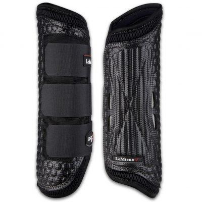LeMieux Shoc Air Cross Country Boots-Hind-Black