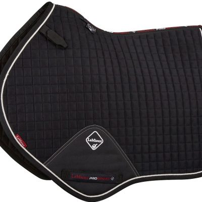 LeMieux Close Contact Suede Saddle Pad Black/Silver