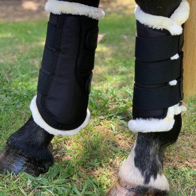 Valleyhorsewear Brushing Boots-Black