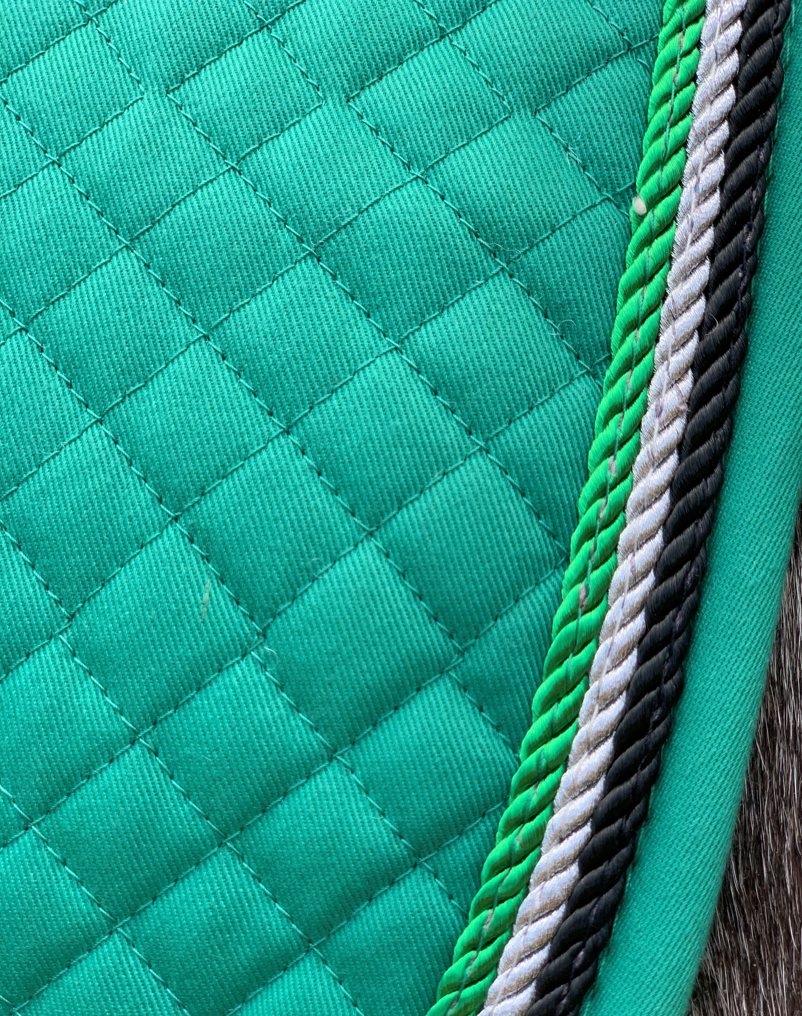 Valleyhorsewear Dressage Saddle Pad-Emerald Green
