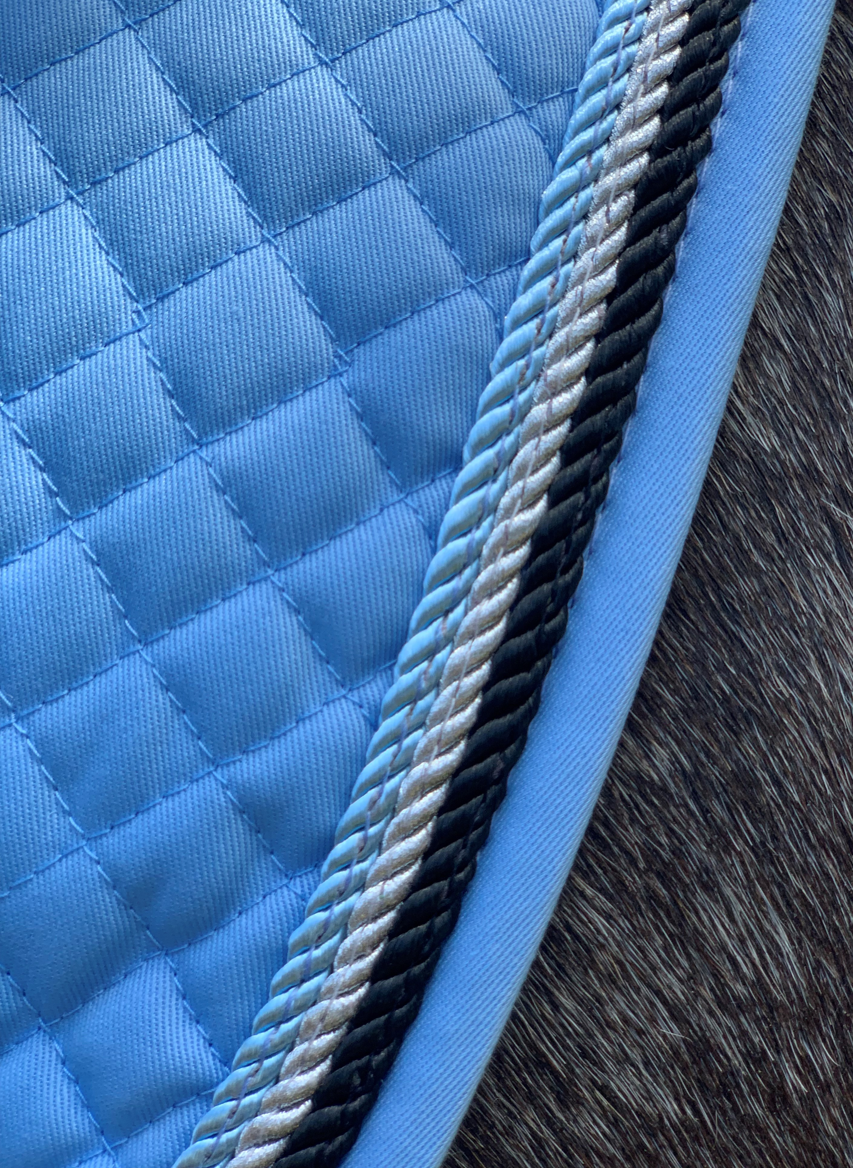 Valleyhorsewear Dressage Saddle Pad-Light Blue